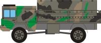 Papercraft de los Vehículos de la Bundeswehr,  fuerzas armadas unificadas de Alemania. Manualidades a Raudales.