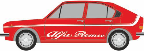 Download - Papercraft de un Alfa Romeo Alfasud rojo.