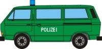 Papercraft de un Volkswagen T3 de la policía. Manualidades a Raudales.
