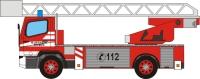 Maqueta 3D del Mercedes Benz Actros de bomberos. Manualidades a Raudales.