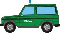 Maqueta 3D del Mercedes Clase G de la policía. Manualidades a Raudales.
