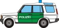 Maqueta 3D de un Range Rover de la policía.