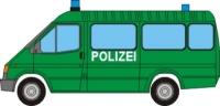 Papercraft recortable de un Ford Transit de la policía. Manualidades a Raudales.