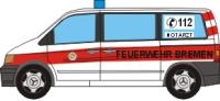 Papercraft recortable de un Mercedes Benz Vito de bomberos. Manualidades a Raudales.